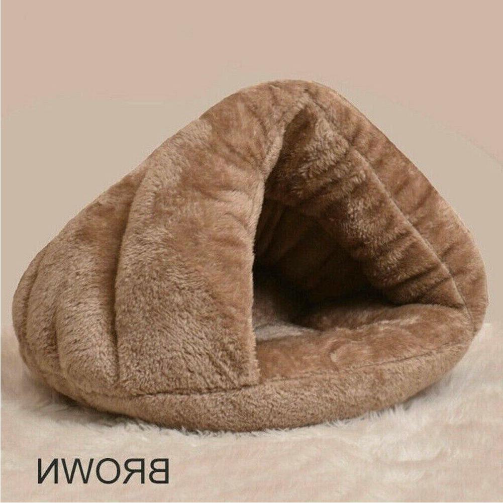 Pet Dog Bed House Soft Bedding Washable Nest US