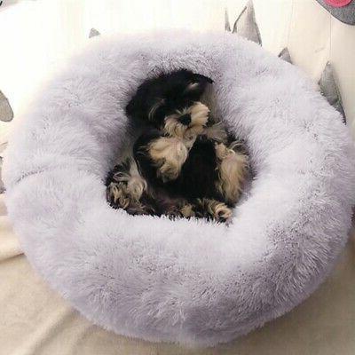 Donut Pet Dog / Cat Soft Warm Calming Bed
