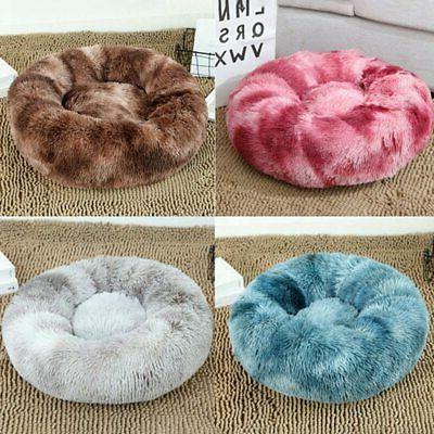 Pet Dog Cat Plush Bed Fluffy Soft Warm Bed Kennel