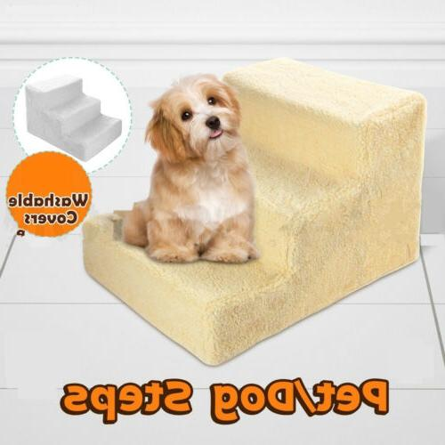 Portable Dog Steps 3 Steps Pet Stairs Small Dogs Cats Ramp L