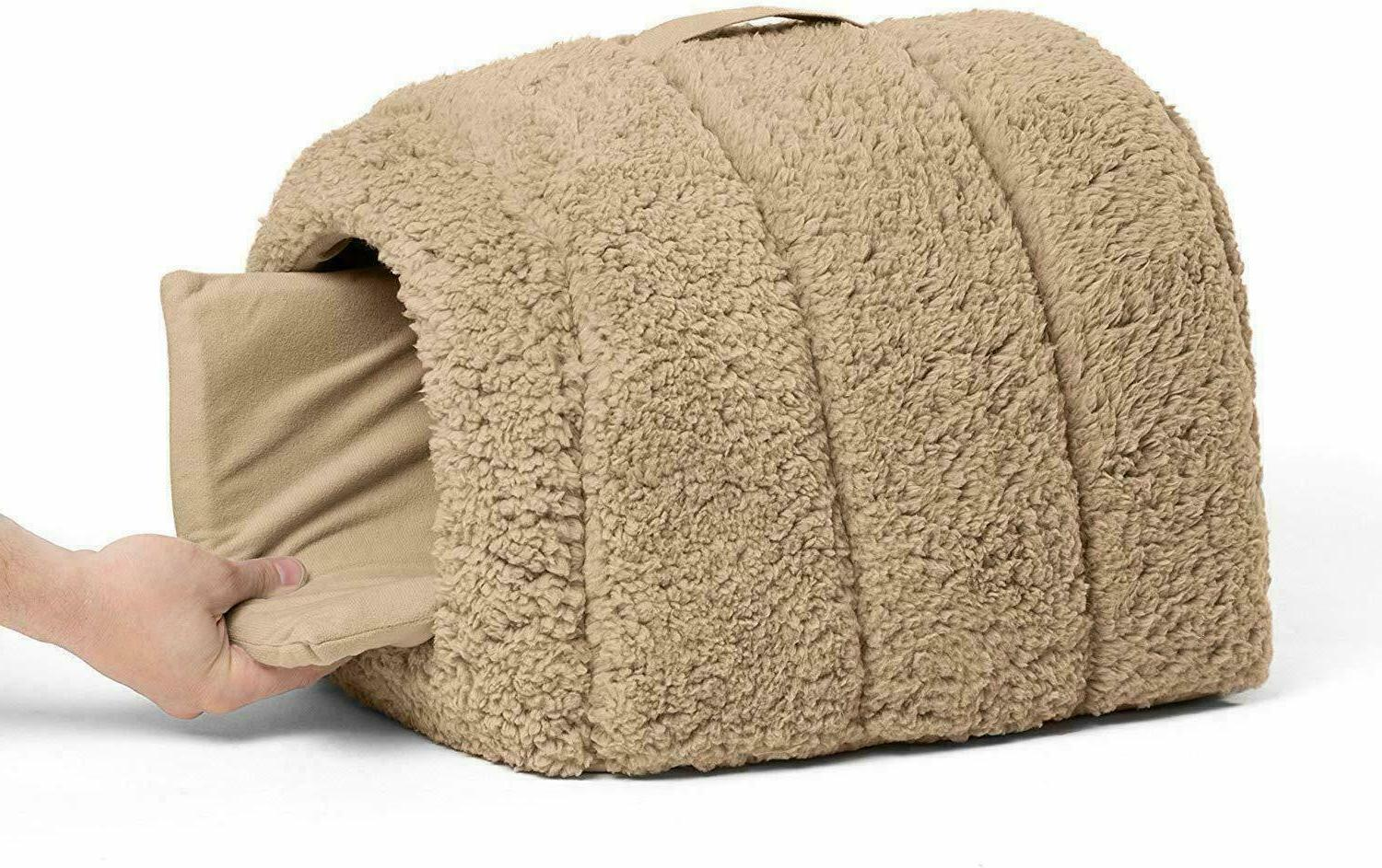 Best Pet Igloo Hut, Cat and Bed 9lbs or