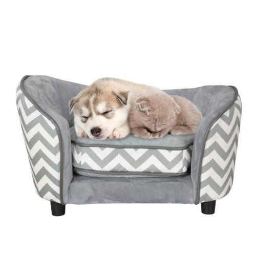 Pet Lounge Orthopedic Sofa Bed Dog Puppy Seat Couch w/ Luxur