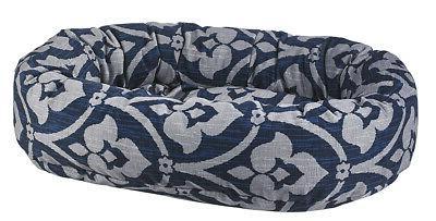pet luxury cushioned donut dog bed