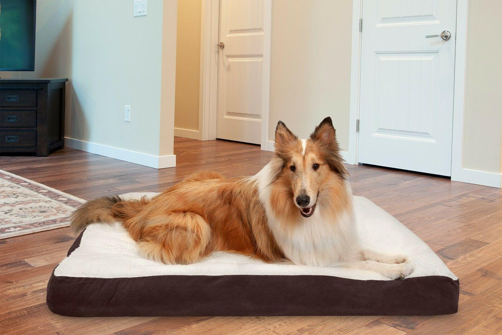 FurHaven Pet Deluxe Pillow Dog Bed - Multiple Materials Avai