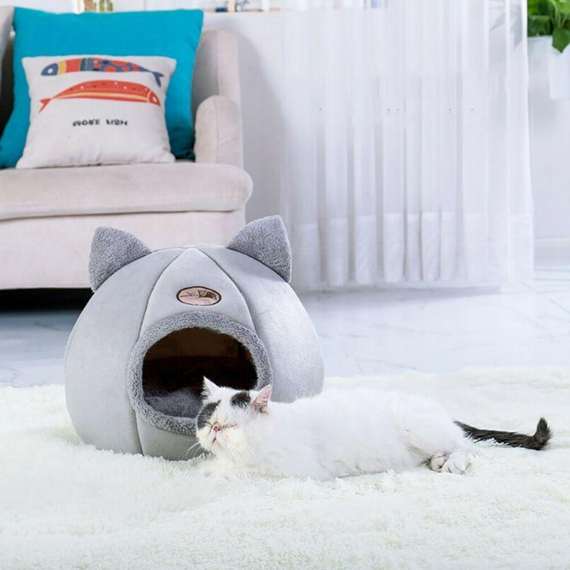 Pet Nest Dog Bed Cushion Cave Warm Plush Basket House