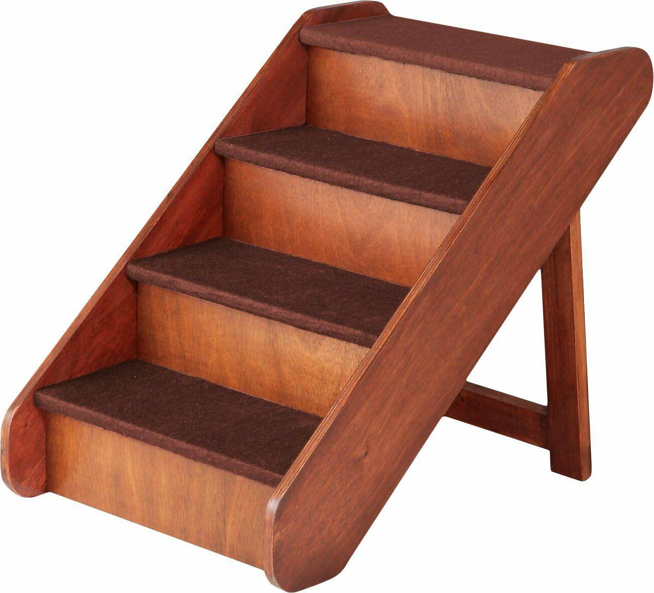 Pet Stairs Handmade Wooden Dog Cat Steps Bed Couch Walnut Pe