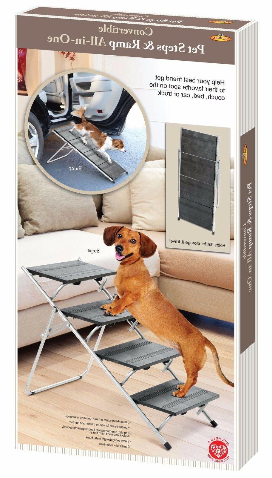 Folding Pet Steps/Ramp Dog Cat Ramp Bed Stairs Portable Trav