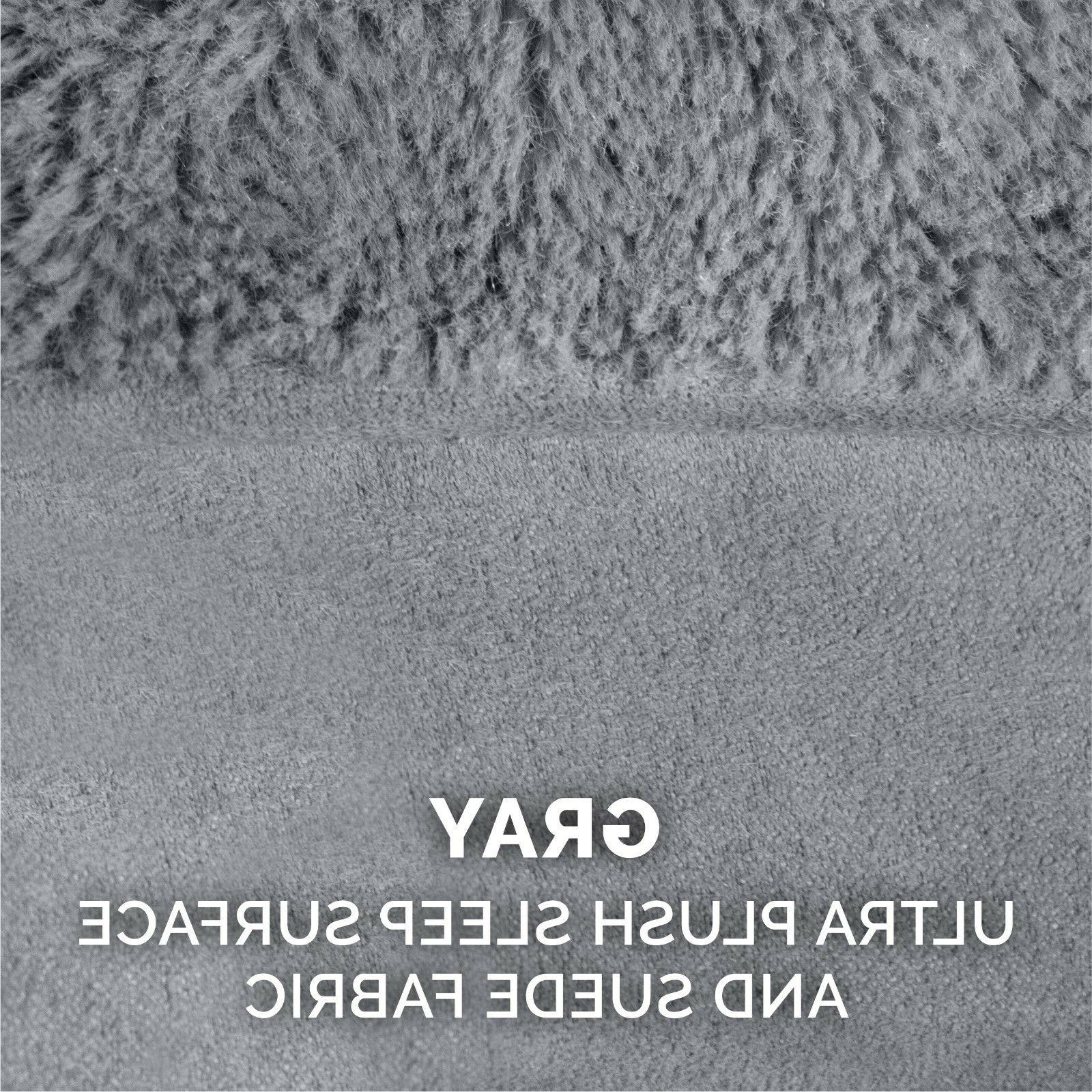 FurHaven Pet Plush Suede Sofa Dog