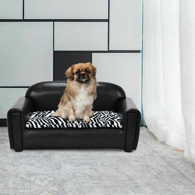 PU Pet Sofa Lounge Dog Puppy Sleeping Bed Soft Comfortable C