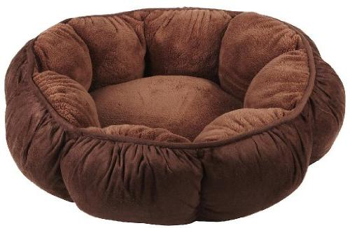 Petmate Puffy Round Cat Bed - Brown
