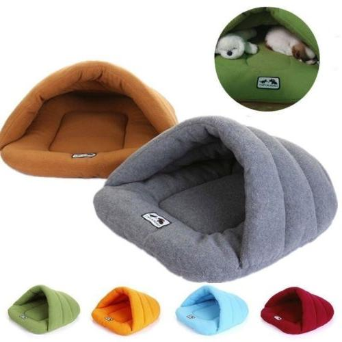 Puppy Pet Cat Dog Soft Warm Nest Kennel Bed Cave House Sleep
