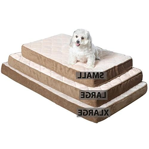 Milliard Quilted Orthopedic Dog Bed, Foam Top 47x29x4