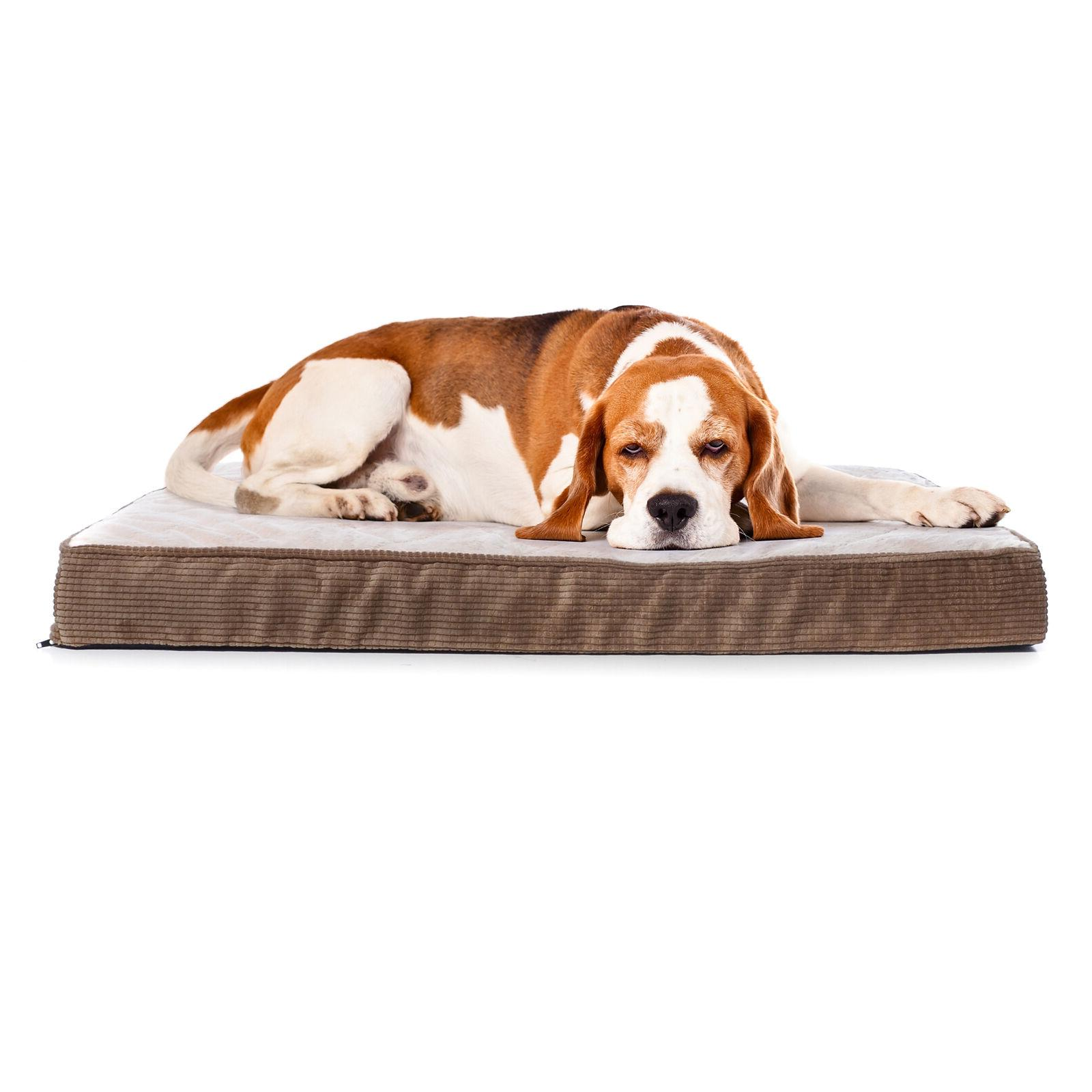 Milliard Quilted Padded Dog Egg Crate Foam Plush Top