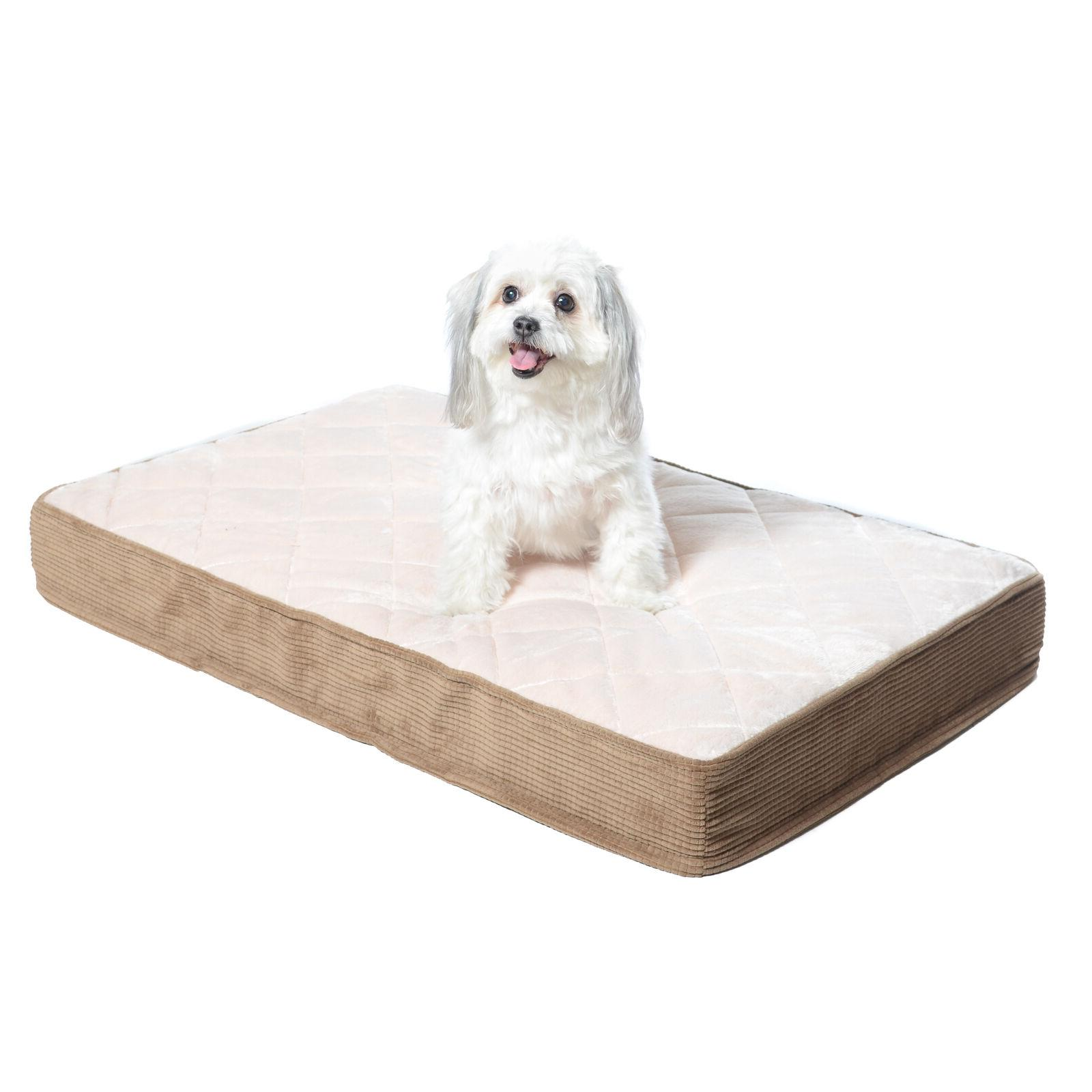 quilted padded orthopedic dog bed egg crate