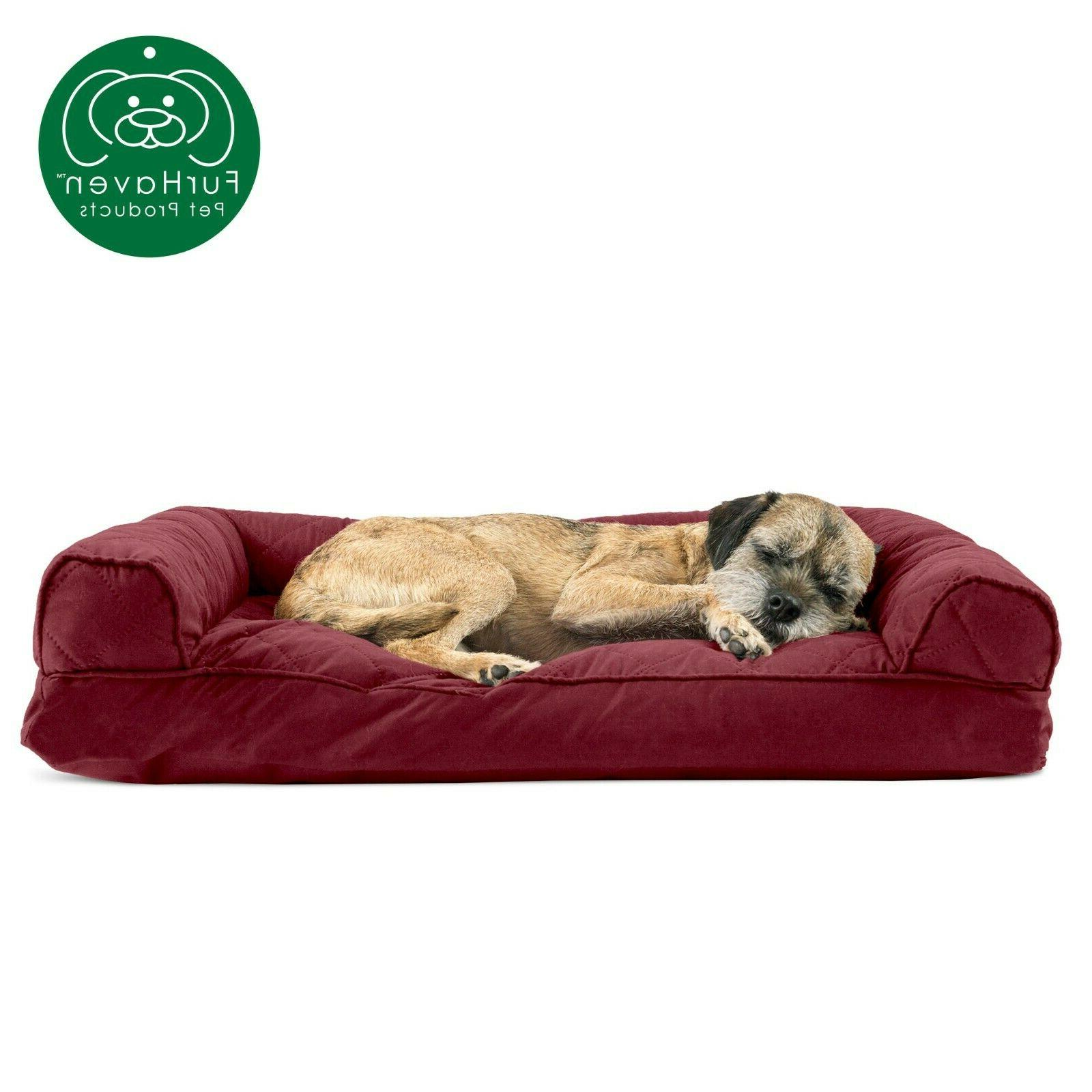 FurHaven Quilted Dog Bed