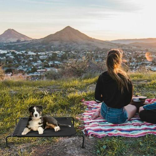 Elevated Dog Lounger Sleep Cat Cot Hammock Outdoor US