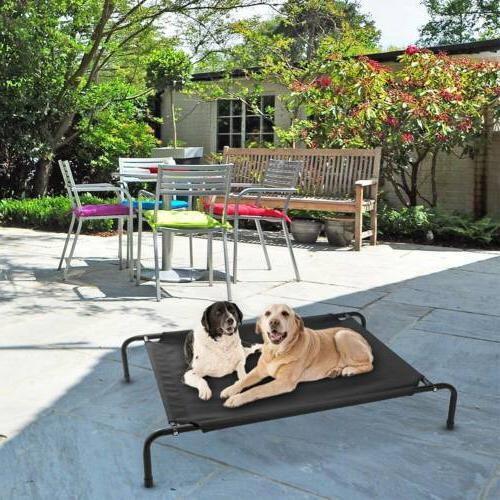 Elevated Lounger Sleep Pet Cat Cot Indoor Outdoor US