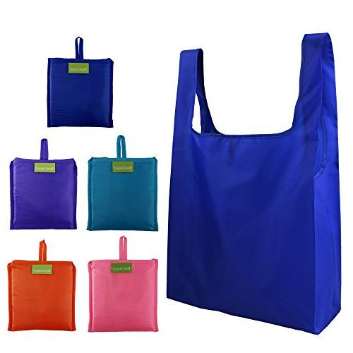 df75081d96 Reusable Grocery Bags Set of 5, Grocery Tote