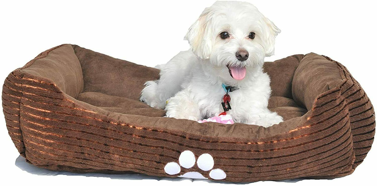 Long Rich Reversible Rectangle Pet Bed Dog Embroidery Medium