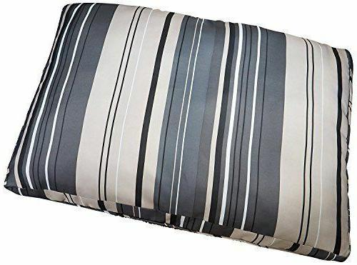 reversible striped gusseted pillow bed