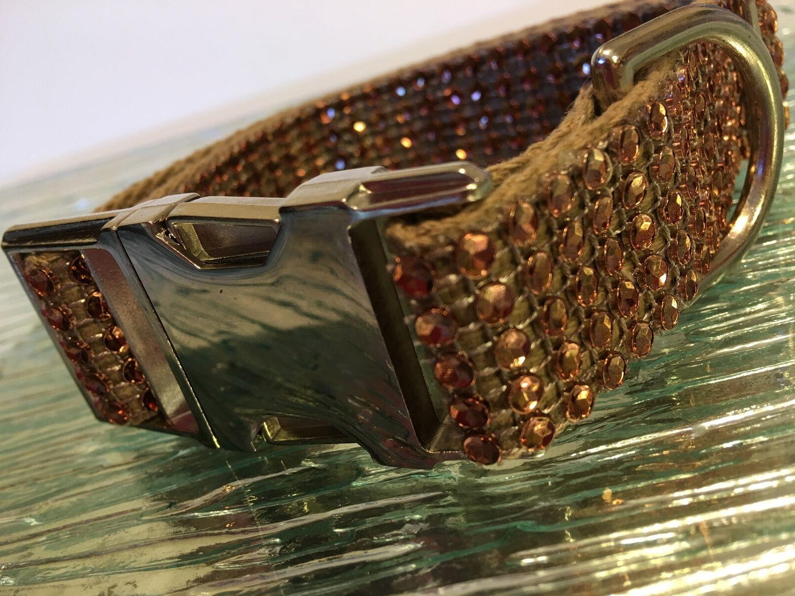rhinestone bling cotton dog collar fancy glam