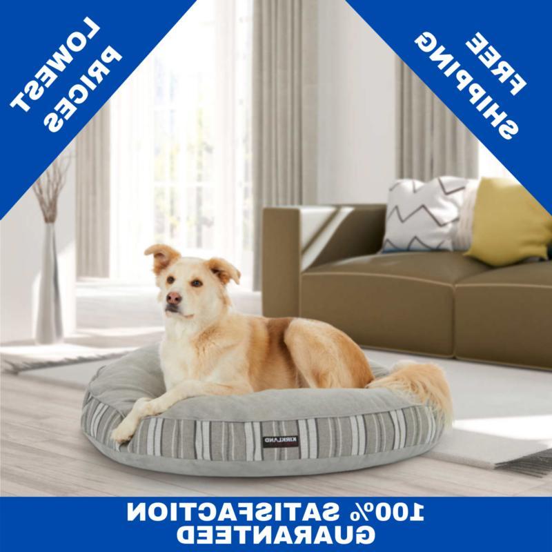 round dog bed kirkland signature 42 gray
