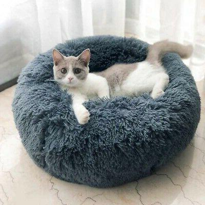 Donut Soft Calming Sleeping Bed Kennel Nest