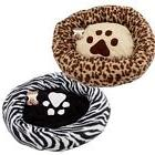 "Round Paw Print Dog Cat Pet Bed Crate  Mat Cushion 23 ""  zeb"