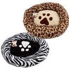 "Round Paw Print Dog Cat Pet Bed Crate  Mat Cushion 23 ""  zeb"