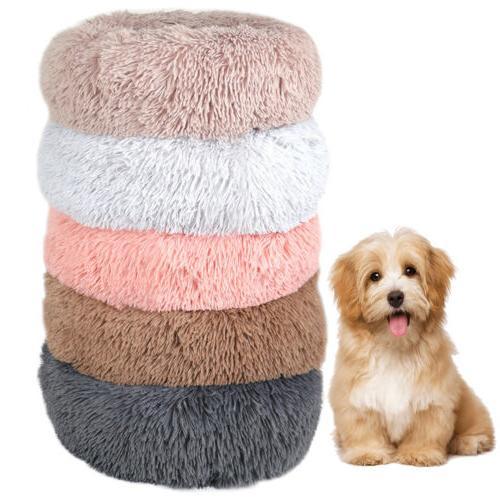 Round Dog Fur Cuddler Warm Calming