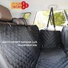 Luxury Beige Dog Car Back Seat Cover W/ Pocket Dog Car Hammo