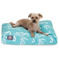 Sea Horse Rectangle Pet Bed, Small , Navy