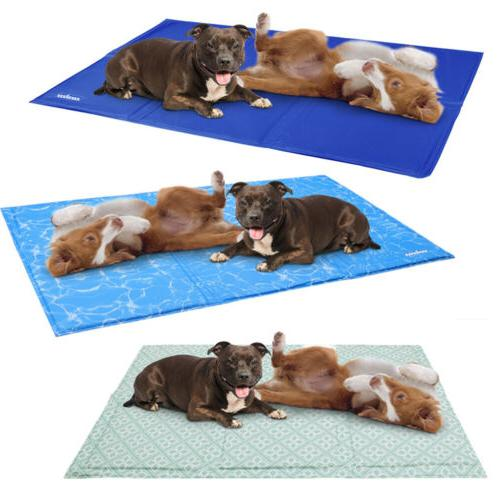 Extra Large Pet Cooling Bed Gel Mat Heat Relief Cooler For D