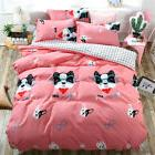 Single Queen King Bed Set Pillowcase Quilt Cover Cotton Blen