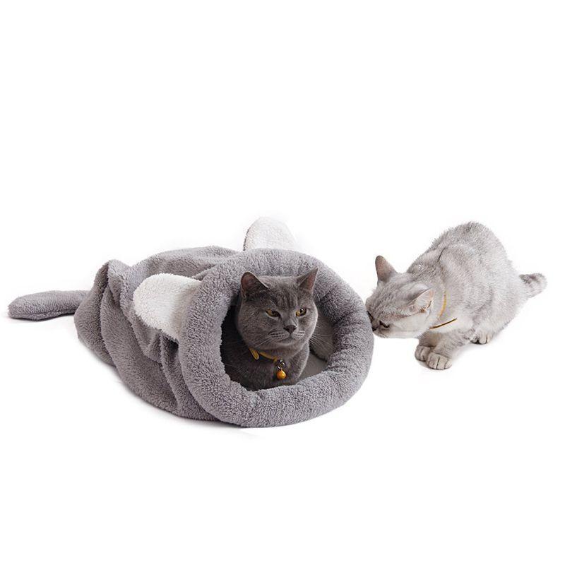 Small Cat Sleeping House Warm Cushion Bag Dog Traveling Mat