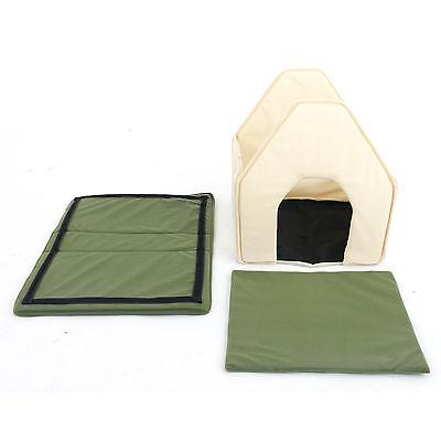 Small Dog House Bed Puppy Kennel Portable Pad Indoor