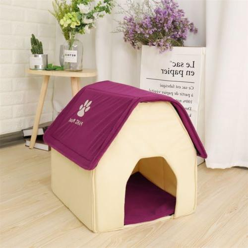 Small House Bed Puppy Kennel Stable Portable Pad