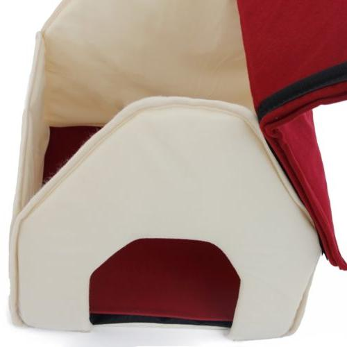 Small Dog Bed Cozy Puppy Cave Kennel Stable Cat Pad Indoor