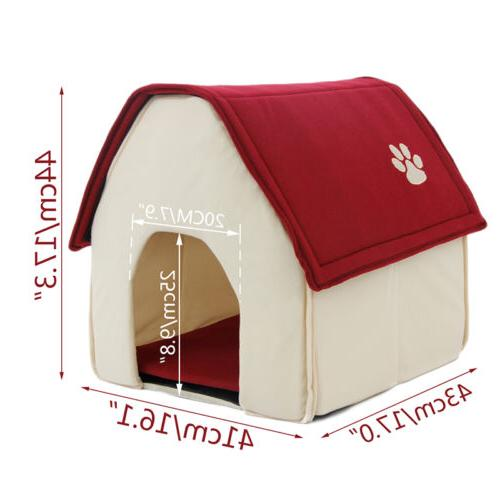 Small Pet Bed Cozy Puppy Kennel Stable Portable Pad