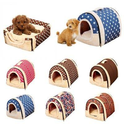 Pet Dog House Kennel Soft Bed Cave Puppy Cat Puppy Bed Doggy