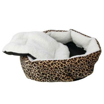 Small Pet Puppy Dog Cat Soft Fleece Cozy Warm Bed House Cott