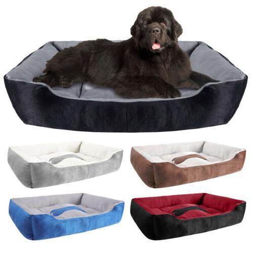 soft fleece pet bed large warm dog