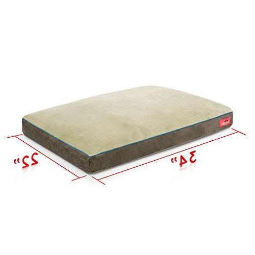 Brindle Foam Bed Removable - 34in x Khaki