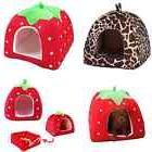 Soft Strawberry Pet Dog Cat Bed House Kennel Doggy Puppy War