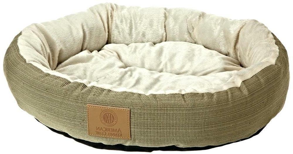 spring round premium pet bed 22x6 gray