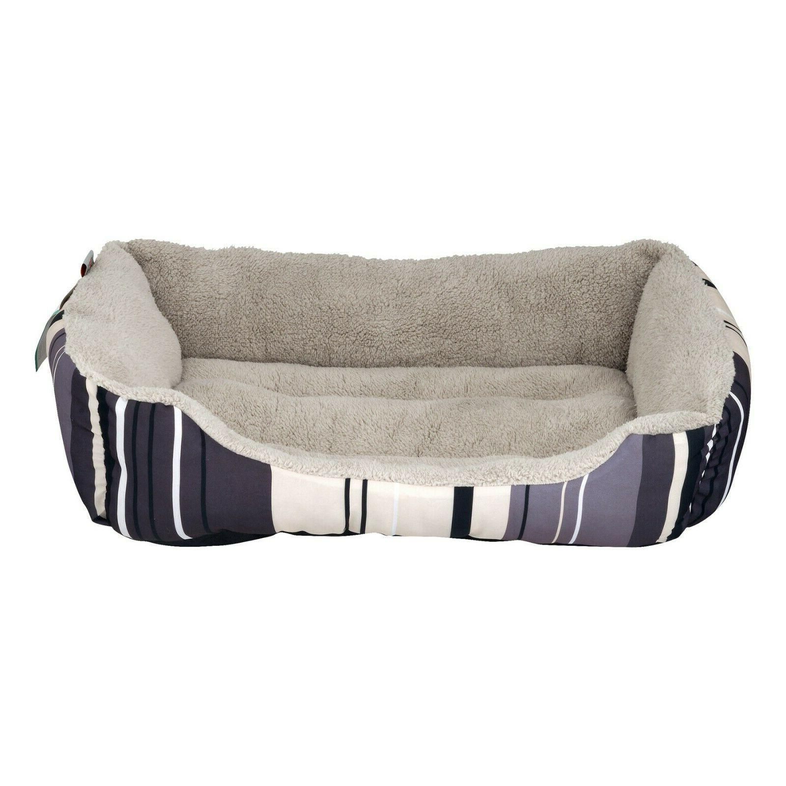 striped cuddler dog and cat pet bed