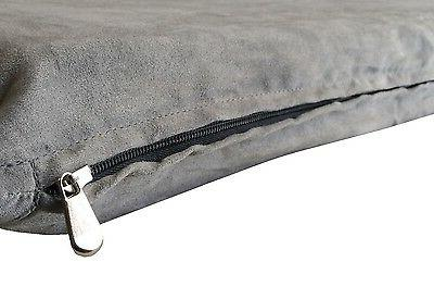 Gray Suede Comfortable Soft Durable Pet Dog Bed Cover Large
