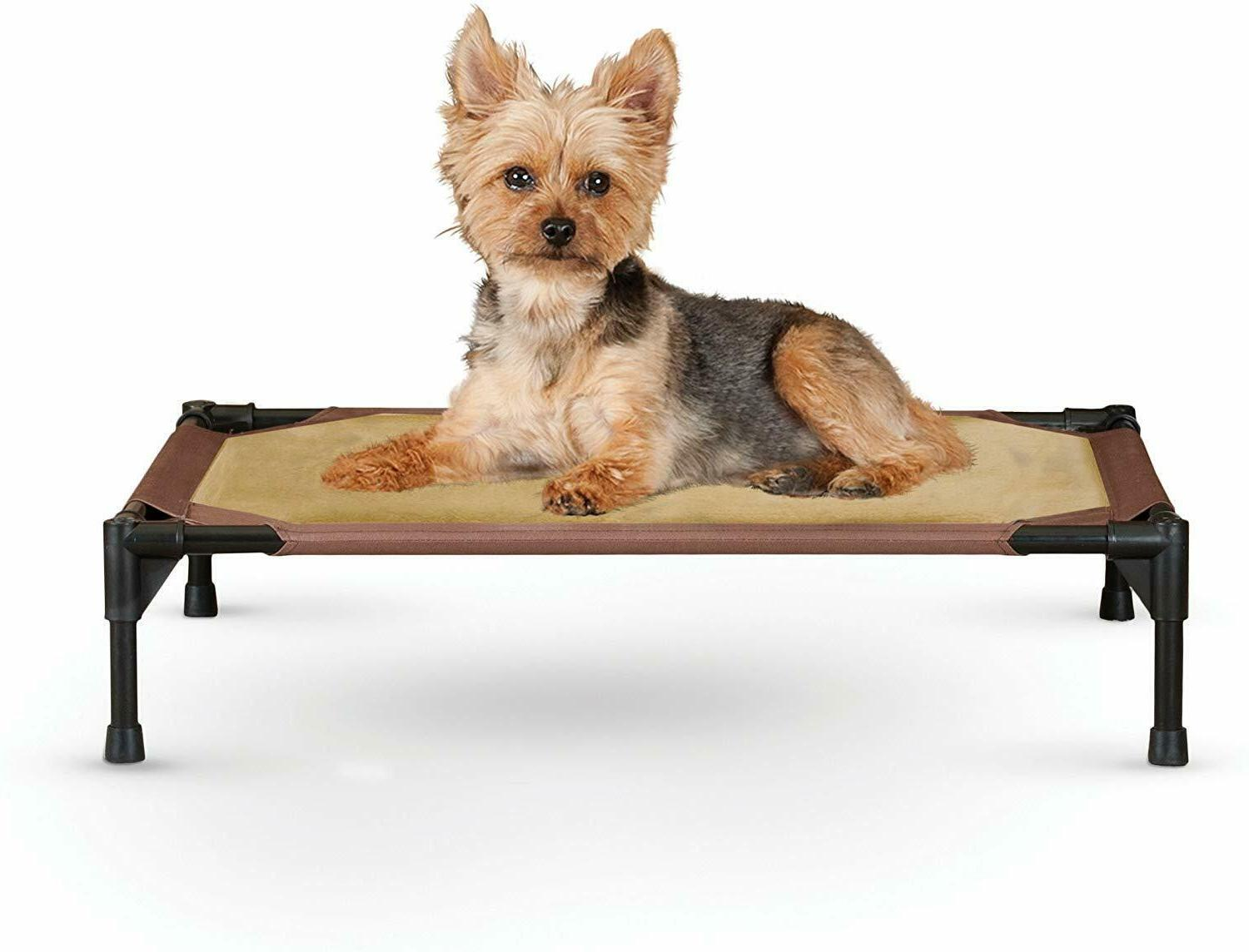 Super Comfy Elevated Pet Bed for Cats or Small Dogs Chocolat