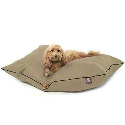 Super Value Dog Bed - Fabric: Red, Size: Medium