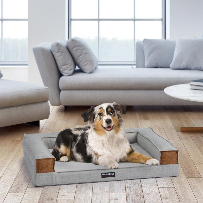 tailored dog couch bed 28 x36 gray